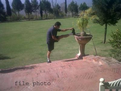پانامہ فیصلے سے قبل عمران خان کی بنی گالہ میں واک اور ورزش