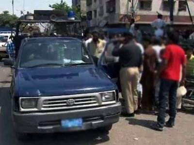 گھاس منڈی کے قریب معلوم ملزمان کی فائرنگ ، 2پولیس اہلکارشہید