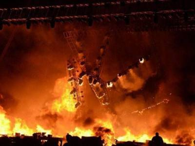 بھارتی ریاست مدھیہ پردیش کے سرکاری گودام میں خوفناک آتشزدگی ،راشن اور مٹی کا تیل لینے آئے ہوئے25افراد زندہ جل کر ہلاک ،کئی شدید زخمی