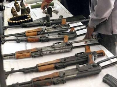 سکیورٹی اداروں کا سرچ آپریشن،گراؤنڈ میں چھپایا گیا اسلحہ برآمد