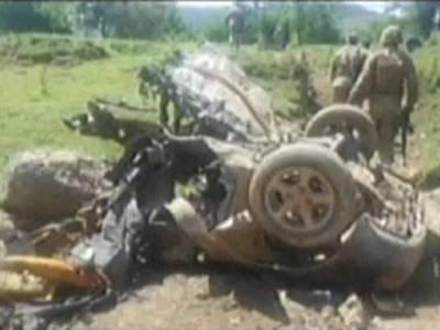 خیبر ایجنسی میں ریمورٹ کنٹرول دھماکہ ،امن کمیٹی اہلکاروں سمیت 5افرادشہید