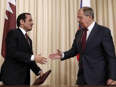 روسی وزیر خارجہ کی قطری ہم منصب سے ملاقات، عرب تنازع پر تبادلہ خیال