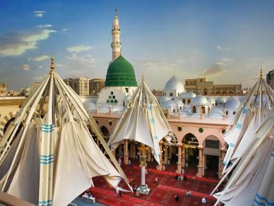 مسجد نبوی میں عاشقان رسول ﷺ کے لئے ماحول کو ٹھنڈا رکھنے کا منفرد ترین نظام