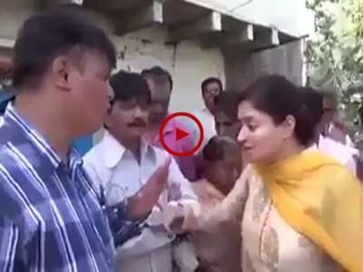 اس ویڈیو میں دیکھیں انڈین ممبر پارلیمنٹ گٹر میں گرگئیں ویڈیو: ملک نعمان۔ لاہور