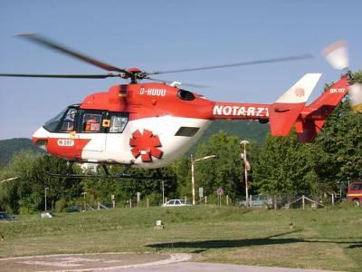 جرمنی میں طبی امداد کے لیئے ہیلی کاپٹر ایمبولینس عام ہوچکی ہے