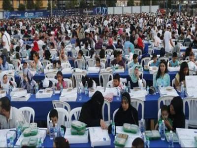 لبنان میں سب سے بڑی افطار ٹیبل سجا کرعالمی ریکارڈ قائم کردیا گیا