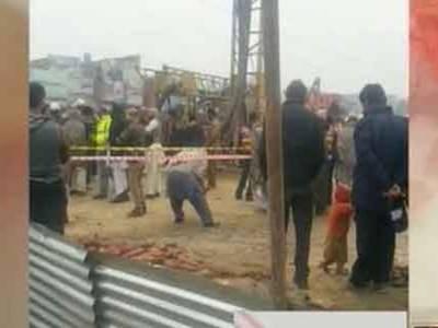 اورنج ٹرین لائن، منڈی سٹاپ پر کرین ٹوٹنے سے ایک مزدور جاں بحق، 6 زخمی، دو کی حالت نازک
