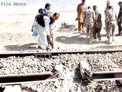 مٹیاری میں ریلوے ٹریک پر دھماکا