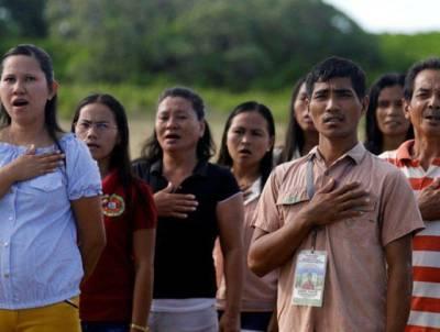فلپائن میں قومی ترانہ گرم جوشی کیساتھ نہ پڑھنے والوں کیلئے سزا کا قانون منظور