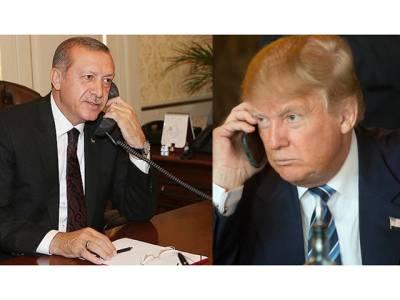 ٹرمپ کا ترک صدر اردوان کا فون ، قطر کا بحران زیر بحث