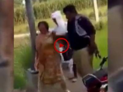 فیصل آباد۔ گٹ والا کے قریب ملزم کی گرفتاری کے دوران پولیس کا ملزم کی ساتھی خاتون پر کیے جانے والے تشددکی ویڈیو دیکھیں۔ ویڈیو: میاں ادریس۔ فیصل آباد