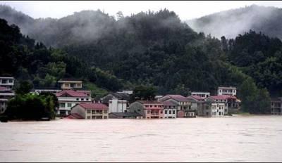 چین کے کئی علاقے سیلابی صورتحال سے دوچار،15ہلاک،تین لاپتہ