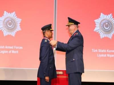 پاک ترک فوجی تعلقات، ترکی نے ائرچیف سہیل امان کو لیجن آف میرٹ ایوارڈ سے نواز دیا