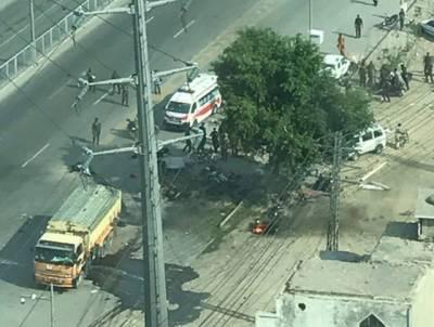 ارفع کریم ٹاور کے قریب سبزی منڈی میں دھماکا ، پولیس اہلکارو ں سمیت26افراد شہید ، متعدد زخمی