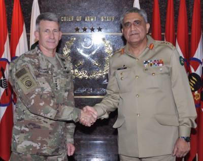 پاکستان آرمی چیف سے امریکی کمانڈر جنرل جان نکلسن کی ملاقات، آرمی چیف کاافغانستان ،امریکاکی جانب سے پاکستان پرالزام تراشیوں پرتحفظات کا اظہار:آئی ایس پی آر