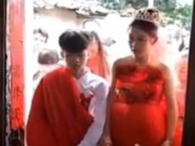 13 سالہ نوعمر لڑکے کی اپنی محبوبہ سے شادی، دلہن کی عمر کتنی ہے؟ تصاویر سامنے آئیں تو دنیا میں ہنگامہ برپاہوگیا