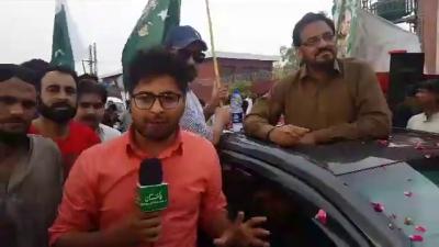 ریلی کے دوران شکیل اعوان کی روزنامہ پاکستان سے خصوصی گفتگو آپ بھی براہ راست دیکھئے