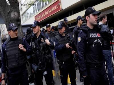 ترکی ، جنگجوؤں سے رابطے کاشبہ، 42افراد گرفتار