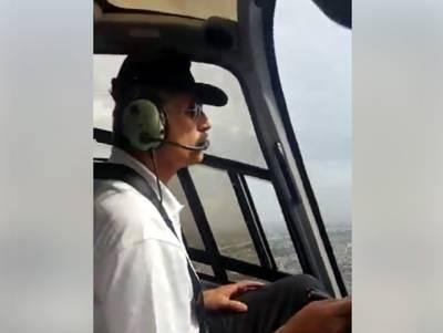 """""""ہیلی کاپٹر میں بیٹھے اس پاکستانی کو اس وقت پوری مسلم لیگ (ن) تلاش کر رہی ہو گی کیونکہ۔۔۔"""" یہ کون ہے اور کیا کر رہا ہے؟ جان کر آپ کیلئے ہنسی روکنا مشکل ہو جائے گا"""