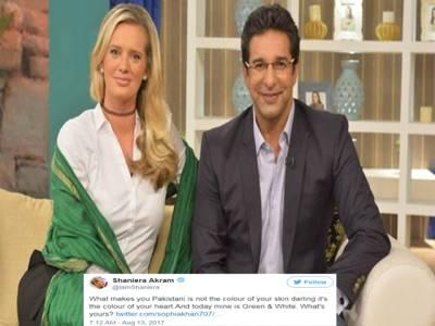 'تم تو پاکستانی ہی نہیں' جشن آزادی کا پیغام شیئرکرنے پر ایک شہری نے یہ بات کہی تو شنیرااکرم نے ایسا جواب دیا کہ پاکستانیوں کے دل جیت لیے