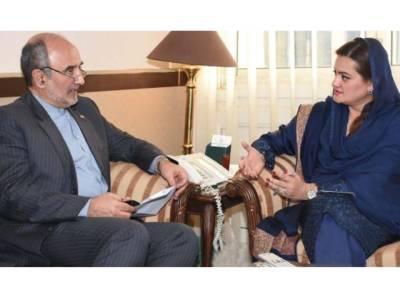 مریم اورنگزیب سے ایرانی سفیر مہدی ہنر دوست کی ملاقات, دوطرفہ تعلقات کو مزید مضبوط بنانے کیلئے مختلف امور پر تبادلہ خیال
