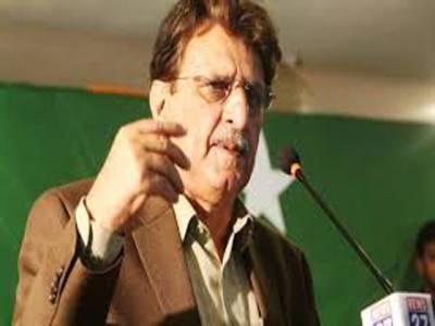 بھارتی وزیراعظم نے اپنی خفت اور شرمندگی مٹانے کے لیے کشمیریوں کو گلے لگانے کا بیان دیا ہے: راجہ فاروق حیدر