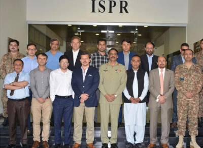 ڈی جی آئی ایس پی آر سے 9رکنی ا فغان میڈیا کے وفدکی ملاقات