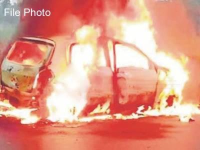 بیت لحم، بد بخت بیٹوں نے باپ کو قتل کرکے لاش گاڑی سمیت جلا دی