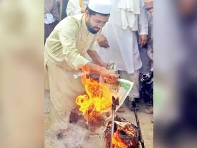 خیبر ایجنسی : آستانہ بنوریہ آشخیل میں موسیقی کے آلات نذر آتش کردئیے گئے