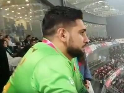 پاکستان بمقابلہ سری لنکا تاریخی ٹی ٹونٹی، معروف باکسر عامر خان نے میچ سٹیڈیم میں دیکھا