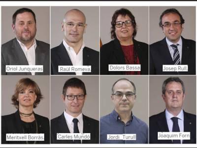 سابق کاتالان نائب صدر جونکیرہ سمیت 7 برطرف وزراء کو جیل بھیج دیا گیا