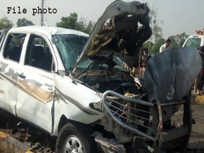 بنوں میں فورسزکی گاڑی کے قریب دھماکا،4سکیورٹی اہلکار زخمی