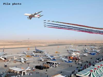 دبئی میں 16 ویں ایئر شو کا افتتاح،وفاقی وزیر دفاعی رانا تنویر حسین کی شرکت