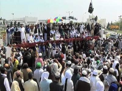 حکومت اور دھرنا کمیٹی میں پنجاب ہاﺅس میں مذاکرات شروع،دھرنا قائدین وفاقی وزیرزاہد حامد کے استعفیٰ پر قائم
