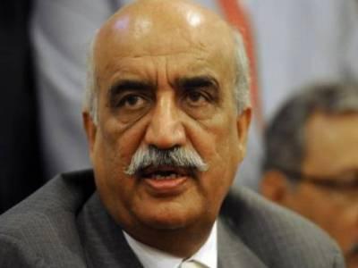 خورشید شاہ کا فیض آباد دھرنا ختم کرانے کیلئے حکومت کو عسکری قیادت سے رابطے کا مشورہ