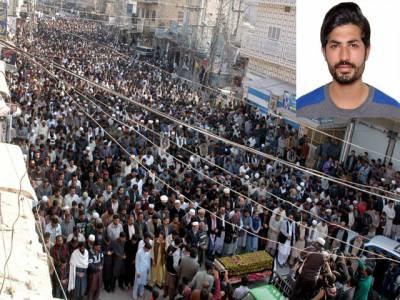 فیض آباد دھرنے میں جاں بحق راجہ زیبی کی نماز جنازہ ادا کردی گئی