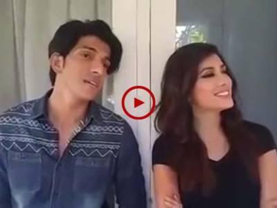 سوشل میڈیا پر وائرل ہونے والی ویڈیو جس میں مہوش حیات اور محسن عباس حیدر نے گانا گایا، آپ بھی سنئیے۔ ویڈیو: حسن فاروق۔ لاہور