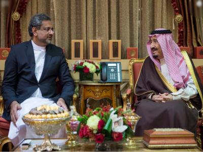 شاہد خاقان عباسی کا ایک روزہ دورہ سعودی عر ب مکمل ، شاہ سلمان کا وزیراعظم کے اعزاز میں عشائیہ