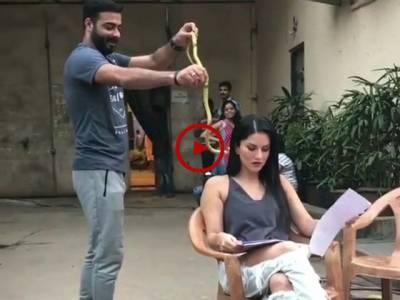 سوشل میڈیا پر وائرل ہونے والی ویڈیو جس میں شوٹنگ کے دوران سنی لیون پر سانپ پھینک دیا گیا، پھر ان کا کیا حال ہوا آپ بھی دیکھیں۔ ویڈیو: حمزہ عباس۔ لاہور