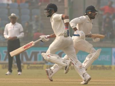ویرا ت کوہلی کے ناقابل شکست156رنز ،سری لنکا کے خلاف پہلے روز کے کھیل کے اختتام تک 371رنز بنالئے