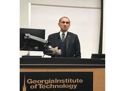 سی پیک علاقائی منصوبہ ،اس سے پورے خطے کو فائدہ پہنچے گا ،اعزاز چوہدری کا جارجیا میں یونیورسٹی طلباءاور فیکلٹی سے خطاب