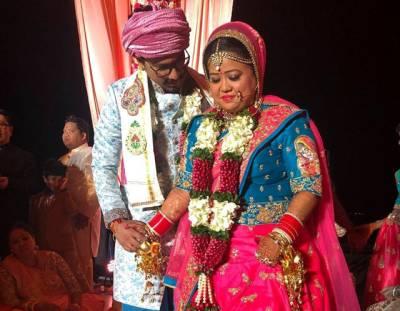 """بھارتی کامیڈین بھارتی سنگھ کی شادی ہو گئی، یہ """"بیڑہ"""" کس نے اٹھایا ہے؟ دیکھ کر آپ بھی حیران رہ جائیں گے"""