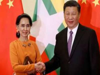 چینی صدر کی آنگ سان سوچی سے ملاقات، تعلقات مضبوط بنانے پر اتفاق
