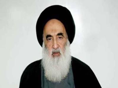 عراقی حکومت ہتھیاروں کو اپنے تک محدودرکھے: شیخ علی سیستانی