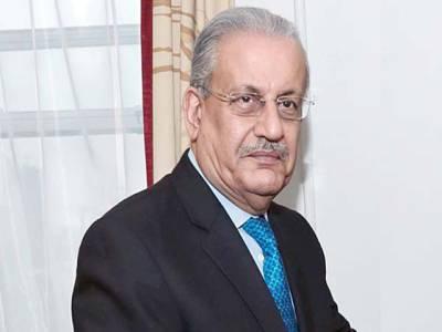 چیئرمین سینیٹ سے فلسطین کے سفیر کی ملاقات،امریکی صدر کا فیصلہ عالمی امن تباہ کردے گا:رضاربانی
