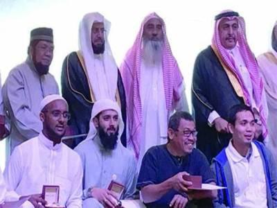 دعوہ سینٹر میں سالانہ تقسم اسناد کی تقریب ، امام حرم شیخ ڈاکٹر خالد الغامدی کی شرکت