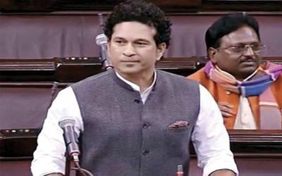 بھارتی پارلیمنٹ راجیہ سبھا میں ہنگامہ،سچن ٹنڈولکر اپنی پہلی تقریر نہ کر سکے
