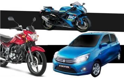 پاک سوزوکی نے دو موٹرسائیکلوں سمیت اپنی چار نئی گاڑیاں متعارف کرادیں