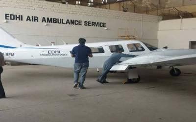 معروف فلاحی تنظیم ایدھی ایئر ایمبو لینس سروس کو این او سی جاری