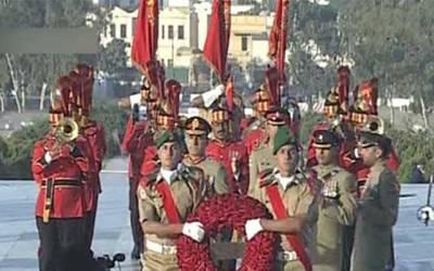 بانی پاکستان کا 142 واں یوم پیدائش، مزار قائد پر تبدیلی گارڈ کی پروقار تقریب